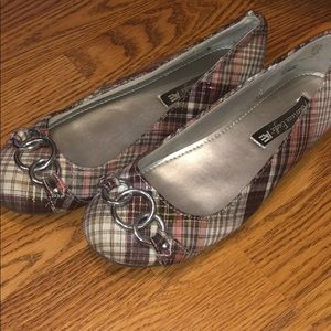 American Eagle Plaid Flats